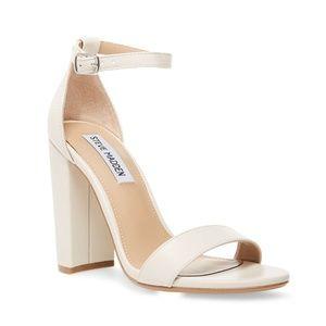 New Women's Steve Madden White Carrson Shoe